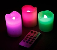 Színváltós LED-es Viaszgyertya